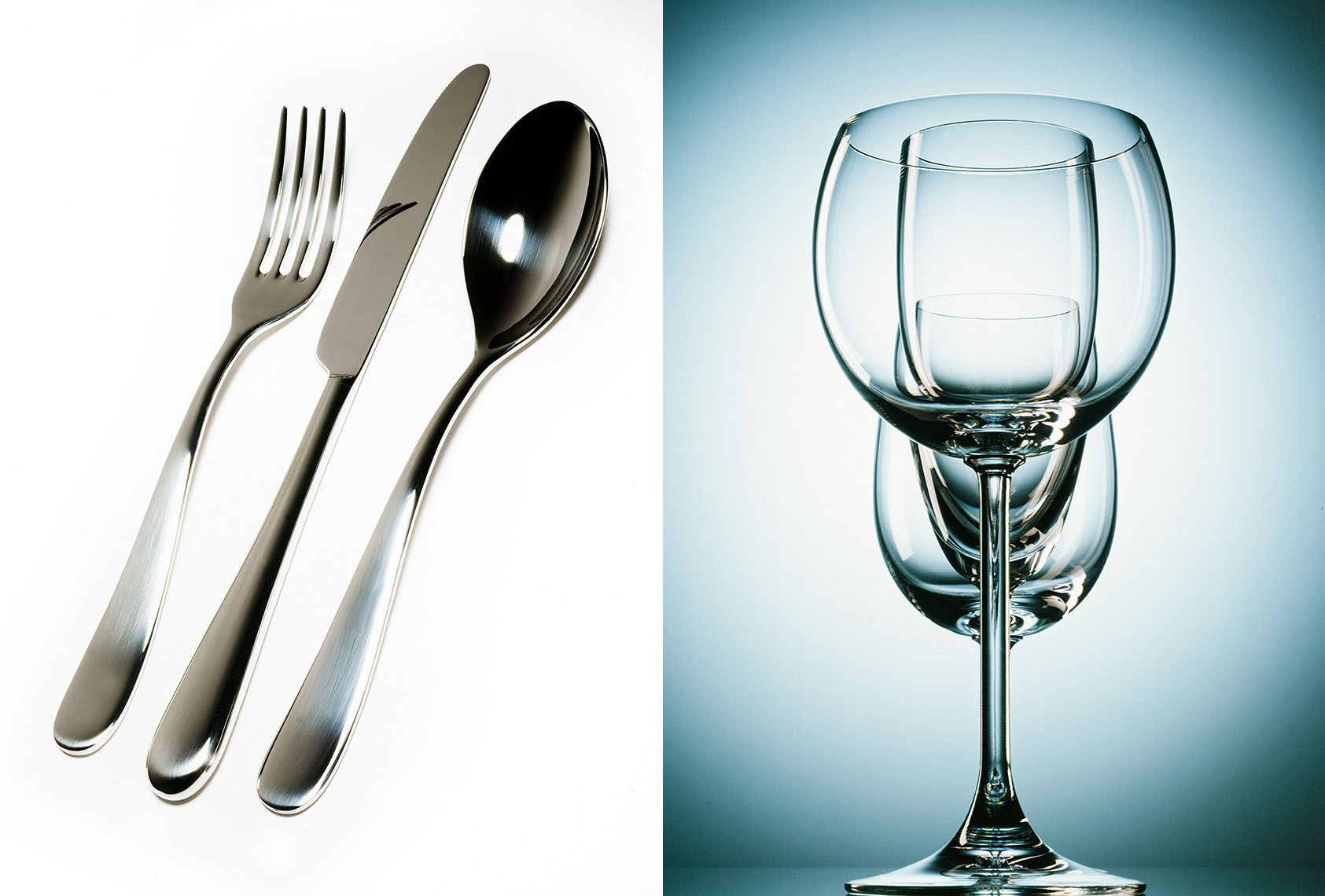 cutlery and crystal